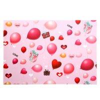 Бумага для творчества воздушные шарики и сердца а4 плотность 80 гр