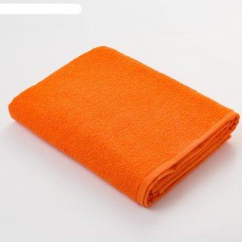 Полотенце махровое экономь и я 30*60 см оранжевый, 100% хлопок, 340 г/м2