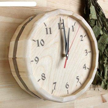 Часы банные бочонок классические