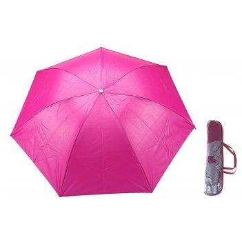 Зонт механический, ветроустойчивый, в футляре, внутри металлик, цвет малин