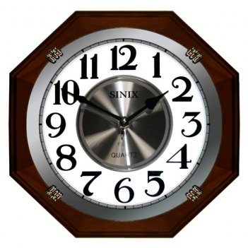 Часы настенные для дома и офиса sinix 1074wa
