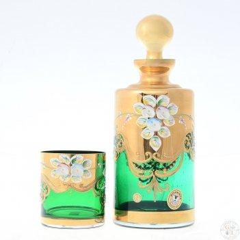 Набор для виски bohemia лепка зеленая e-s 7 предметов