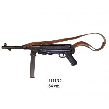 de-1111-c автомат mp-40 с  ремнем , мп 40, (schmeisser-mp),