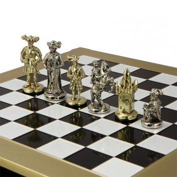 Эксклюзивные шахматы  рыцари средневековья  из бронзы