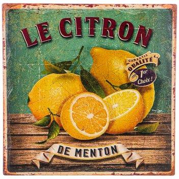 Подставка под горячее коллекция ретро лимоны 16*16 см