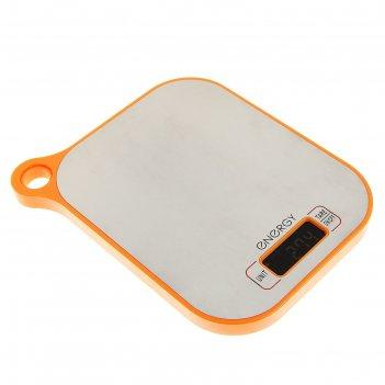 Весы кухонные электронные energy en-411, до 5 кг, съемная чаша, оранжевые