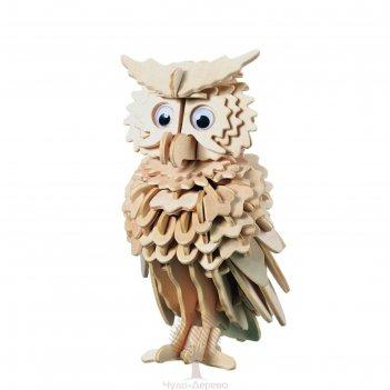Сборная деревянная модель сова