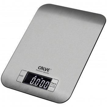 Весы кухонные calve, электронные, до 5 кг, серебристые