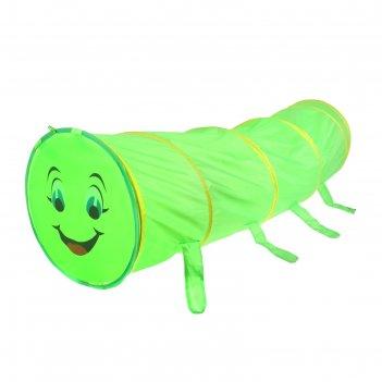 Детский туннель гусеничка, цвет зеленый