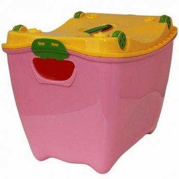 Ящик для игрушек супер-пупер 2599 розовый