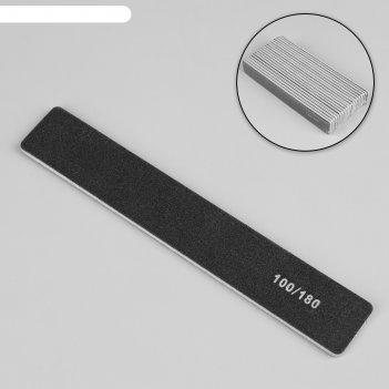 Пилка-наждак, абразивность 100/180, 18 см, фасовка 20 шт, цвет чёрный
