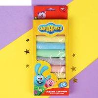 Мелки цветные для творчества 10 цветов смешарики   40110-sm