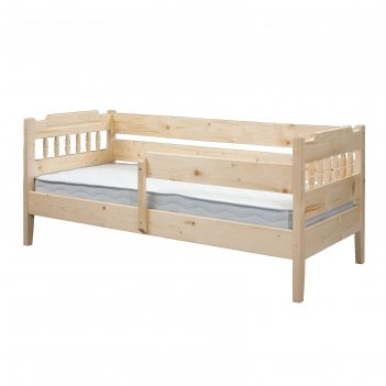 Детская кровать, 800 x 2000 мм, массив сосны, цвет лак