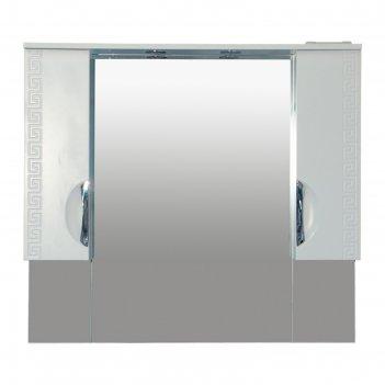 Шкаф-зеркало престиж -105 белое