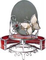 Hs-22787h зеркало с шкатулкой красный глянец jardin d ete