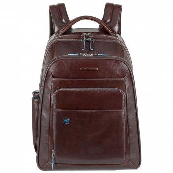 Рюкзак для ноутбука piquadro blue square, красно-коричневый