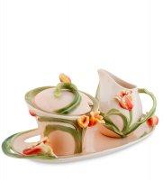 Fm-83/ 2 н-р сахарница и молочник тюльпаны (pavone)