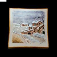 Картина керамическая зимний сон