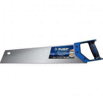 Ножовка по дереву зубр молния-ламинатор 15235-50, 500 мм, 3d заточка, 11 t