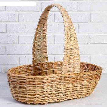 Корзина продуктовая, 52x31x14/45 см, ручное плетение, ива