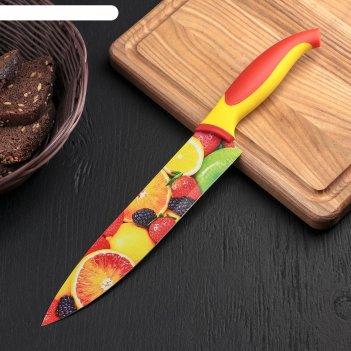 Нож кухонный с антиналипающим покрытием 20 см фрукты