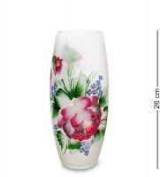 Vz-594 ваза стеклянная жостово h-260
