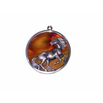 Брелок лошадь из янтаря