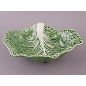 Блюдо капустный лист 35*25 см.без упаковки