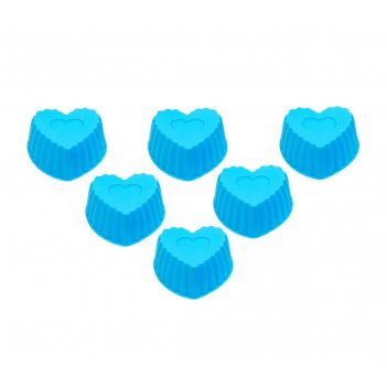 Набор форм для выпечки силикон катунь «сердечко»