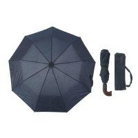 Зонт мужской полуавтомат, ветроустойчивый, ручка комбинированная, цвет тем