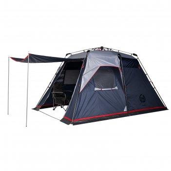 Палатка кемпинговая «polaris 4», синий/серый