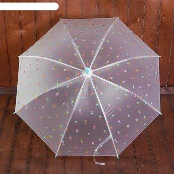 Зонт детский мороженка, зеленый, d=88