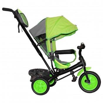 Велосипед трехколесный лучик vivat 2, колеса eva 10/8, цвет салатовый