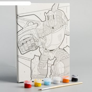 Картина по номерам «бамблби», transformers,  21 х 15 см