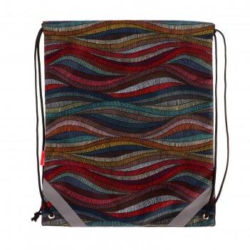 Мешок для обуви, 440 х 365 мм, erich krause, mosaic, со светоотражающими э