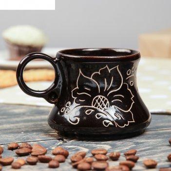 Чашка кофейная цветы, 100 мл