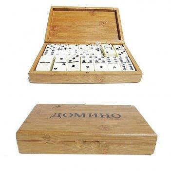 Домино в деревянной коробке, 20х12х4 см