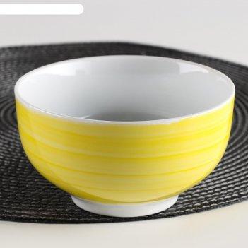 Миска для мюсли добрушский фарфоровый завод infinity 500 мл, цвет жёлтый