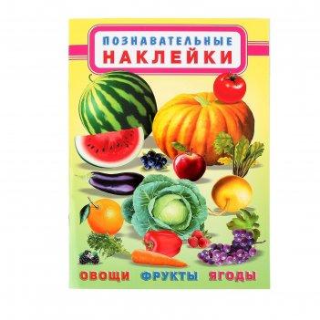 Книжка с наклейками овощи, фрукты, ягоды