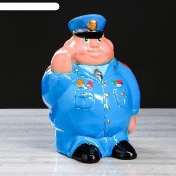 Копилка полицейский, 30 см, микс