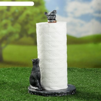 Подставка для бумажного полотенца кошка с птичкой 26х17х17см