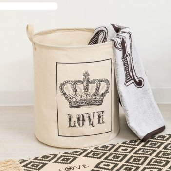 Корзинка текстильная love 35 х 40 см