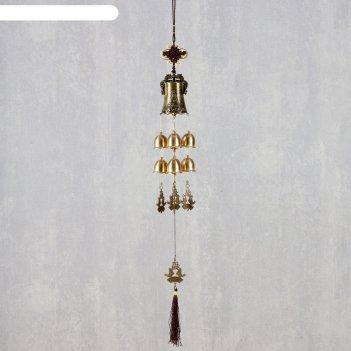 Музыка ветра металл лакшми и карпы 8 колокольчиков 66 см