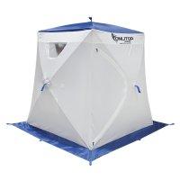 Палатка призма 150 (1-сл) люкс в95т1, бело-синяя