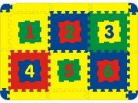 Мягкий развивающий коврик, 6 элементов