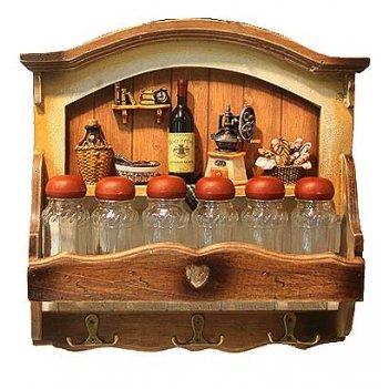 Коллаж-набор для специй винный погребок (3 крючка) 31*30см (