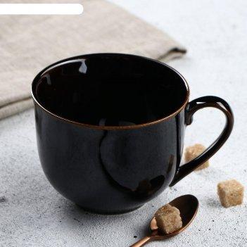 Бульонница 0,45 л аппетитка чёрная глянцевая
