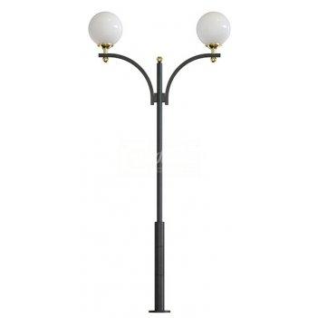 Стальной фонарный столб т-10-2 со светильниками 4,52 м