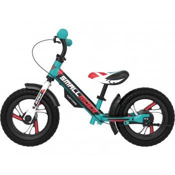 Алюминевый беговел с 2-мя тормозами small rider motors (eva) (аква)