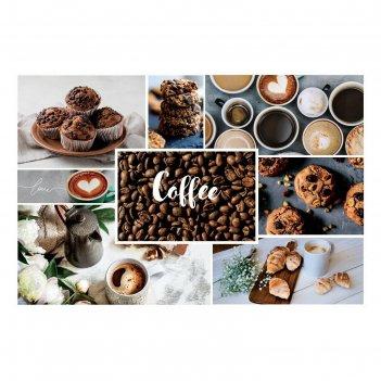 Наклейка виниловая для кухни «утро с кофе», интерьерная, 60 х 90 см
